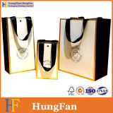 High Quality Printed Paper Shopping Bag with Ribbon Handle