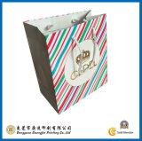 Colorful Strip Paper Gift Bag (GJ-Bag018)