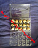 3X5 15units Three Faces Clear Plastic Quails Egg Tray Italy