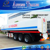 3 Axle 30t Flammable Liquid Fuel Oil Chemical Tank Semi Truck Trailer (40m³) (LAT9401GRY)