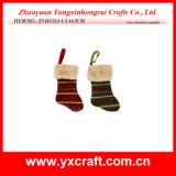 Christmas Decoration (ZY16Y213-1-2 14.5CM) Christmas Pick One Sock