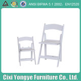 White Padded Wedding Resin Folding Chair for Banquet