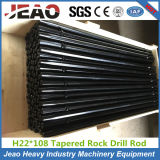 Hex 22*108mm Rock Drilling Tools Tapered Drill Rod 7 Degree for Mining