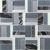 Mix Color Rough Square Glass mosaic Kitchen Tile