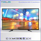 "Factory Supply 32 "" Direct Lit DVB-S2 HD LED TV H. 265 Double Tuner"
