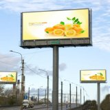 Q235 Steel Advertising Highway Unipole Hoarding Billboard
