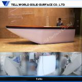 Artificial Stone New Design Unique Shape Shoe Shape Reception Desk