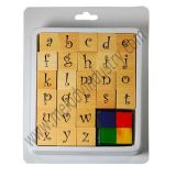Alphabets Wooden Stamp Kit / Rubber Stamp Kit for DIY Projects