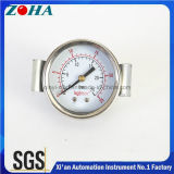Double Dial Scale Steel Case Pressure Gauges with Clamp Mounting