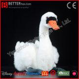 ASTM Lifelike Plush White Swan Realistic Stuffed Bird Soft Toy