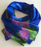 Custom Design Digital Printed Twill Silk Scarf From China (SC001)