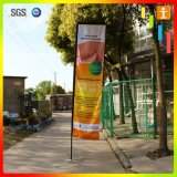Polyester Feather Flag Promotional Usage Advertising Exhibition