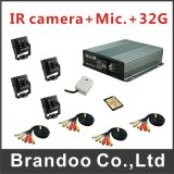CCTV Camera D1 4CH Ahd Camera Bus DVR Kits