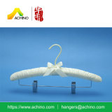 Satin Padded Skirt Hanger with Metal Clips (APH100)