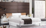 Hot High Gloss King Bed Modern Bedroom Furniture Set (HC906)