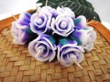 Floral Scent Purple Rose Tea Lights Floating Candle Paraffin Wax Handmade