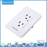 Z-Wave Sumpple 2-Outlet Power Charger Socket Wall-Mounted Power Adapter for Smart Home