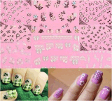 3D Flower Lace Butterfly Decal Nail Art Stickers Nail Sticker