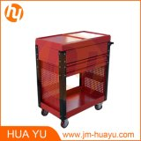 Professional Tool Trolleys / Dental Tool Cart with Drawers Red Color
