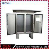 Outdoor Waterproof Lockable Stainless Steel Metal Enclosure Electric Cabinet
