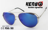 Classic Oval Frame Add Metal Bar on The Side New Design Sunglasses Km17083