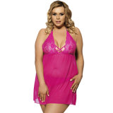 China Wholesale Price Halter Rose Women Sexy Plus Size Babydoll