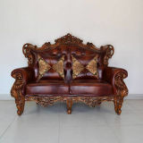 Leather Sofa Living Room Wooden Sofa Chair (UL-NS503)