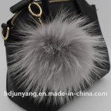 High Quality Raccoon Fur Ball Keychain Promotion Gift