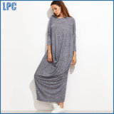 100% Cotton Mullin Long Dress for Fashion Dress