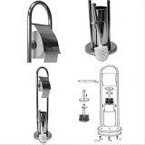 Freestanding Toilet Roll Holder and Toilet Brush Holder