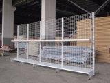 Double Sided Supermarket Metal Wire Mesh Shelf