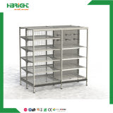 Good Quality Metal Punched Holes Supermarket Display Shelf