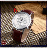 Yxl-333 2016 New Design Stainless Steel Unique Quartz Watch Leather Strap Wrist Watches Wholesale