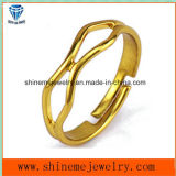 Open Ring Fashion Unique Stainless Steel Gold Plated Jewelry Ring (SSR2772)