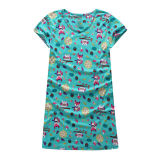 Sexy Custom Made Cheap Knitted Cotton Print Charming Ladies Nightwear