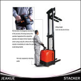 1600kg Adjustable Fork Electric Stacker (with pedal)