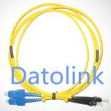 Patch Cord SC/PC-ST/PC Sm Duplex LSZH 2.0mm