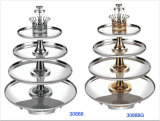 Deluxe 4-Tiers Stainless Steel Revolving Buffet Stand (30888/30888G)