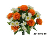 Artificial/Plastic/Silk Flower Rose/Peach Blossom Mixed Bush (2918102-19)
