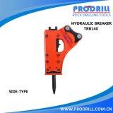 Hydraulic Excavator Rock Breaking Hammer Is Used in Quarry for Breaking Rocks