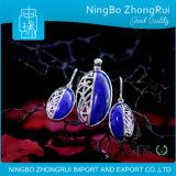 925 Sterling Silver Lapis Lazuli Jewelry Pendant and Earings Orchid Serie 1