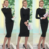 Long Sleeve High Neck Slimming Bodycon Formal Dress