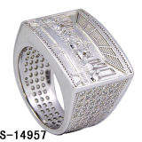 Newest Item 925 Silver High End Men Rings with Shiny CZ. (S-14957)