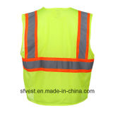 Class 2 100% Polyester Mesh Flourescent Safety Warning Vests