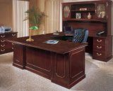 Modern Office Furniture Manager Table Design with Bookcase (SZ-ODT613)