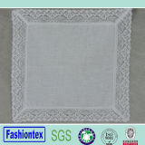 Wedding Handkerchief Wide Lace Edge Design Linen Handkerchief