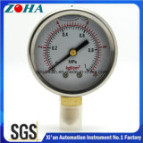 Miniature Bottom Connection Shock Resistance Pressure Gauges Oil Filled