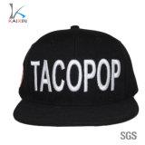 China acrylic 6 Panel Black Custom 3D Embroidery Snapback Hats