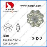 Flower Shape Flat Back Glass Stone (DZ-3032)
