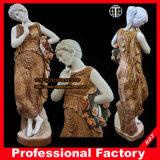 Girl with Wreath Garden Sculpture Marble Statue Stone Carving Marble Sculpture Itlian Stone Sculpture Hotel Sculpture
